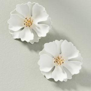 Anthropologie Floral Earrings NWT